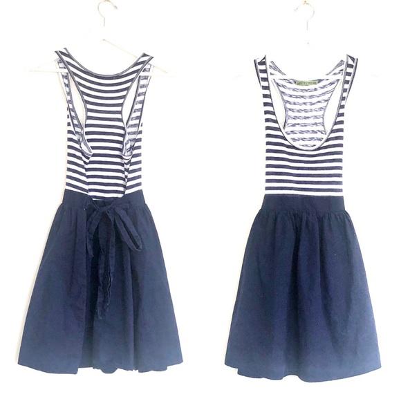 Velvet by Graham & Spencer Dresses & Skirts - VELVET Nautical Stripe Scoop Neck Racerback Mini